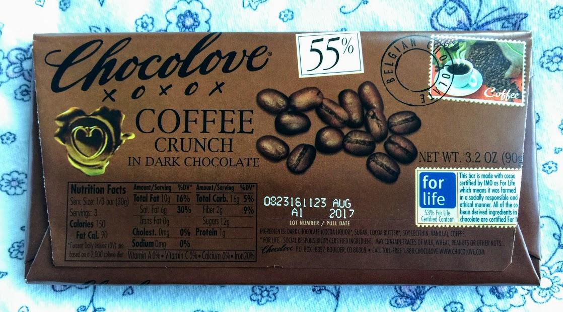 55% chocolove coffee bar back