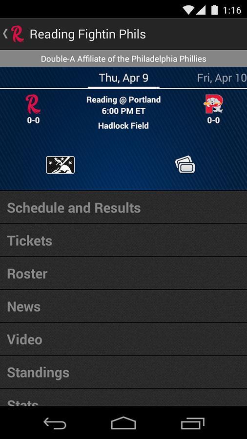 MiLB First Pitch - screenshot