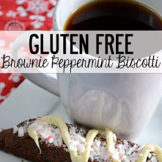 Gluten Free Brownie Peppermint Biscotti