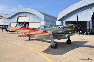 Photo: Exceptionnel, LE SNCAO Morane Saulnier MS 406 (D-3801), seul exemplaire volant au monde, motorisé par un moteur V12 Hispano Suiza 12Y-31 de 860 cv.