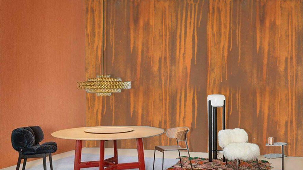 Sự độc đáo của sơn gỉ sét trong trang trí nhà ở