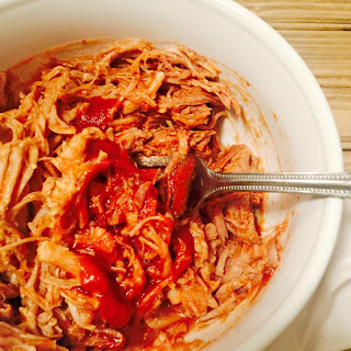 21 Day Fix Pulled Pork with Maple BBQ Sauce {Crock Pot/Instant Pot}.