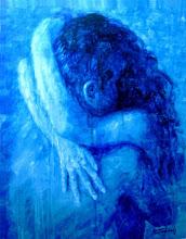 """Photo: """"Transcendência dos Sentidos - Estágio Alfa"""". Acrílica/cartão, 95 x 75 cm, 1998, Mossoró, Rio Grande do Norte, Brasil. Acervo do Artista."""