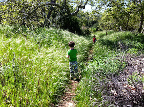 Photo: Clark and Finn at Dilley Preserve