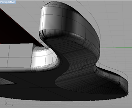 Photo: You can see the body profile here. The lower body edges are rounded by 6mm, while the top edges are sloped. It's hard to explain. I think it'll look hot when rendered.. We'll see.