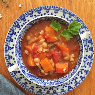 Slow Cooker Barley and Bean Soup.