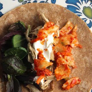 Kimchi Chicken Burritos.