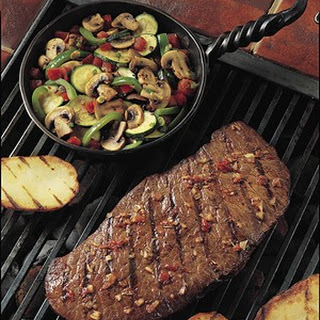 Grilled Southwestern Steak and Colorful Vegetables.