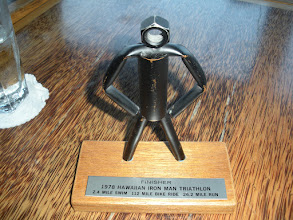 Photo: Dave Orlowski's trophy from the 1st Ironman in 1978