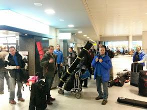 Photo: EWK reisi algus Kanada maratonile Helsingi lennujaamas.
