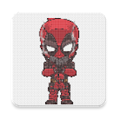10.  Superhero Coloring By Number - Pixel Art