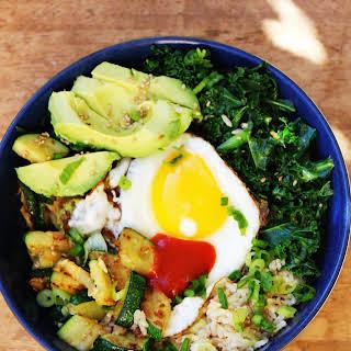 California Bimbimbap with Avocado & Kale.