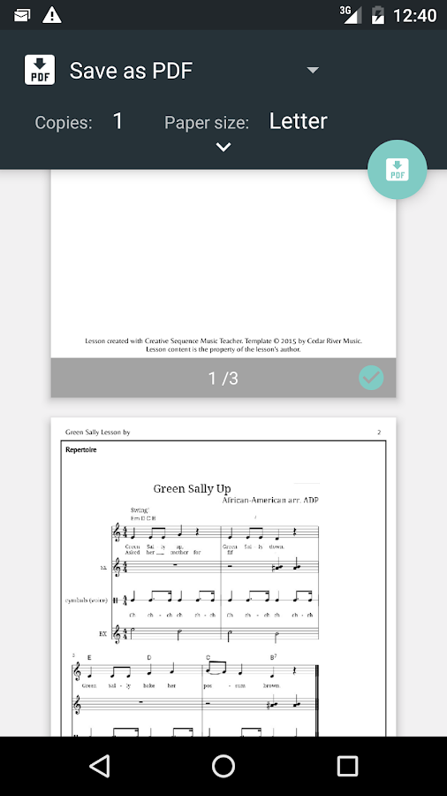 CreativeSequence Music Teacher- screenshot