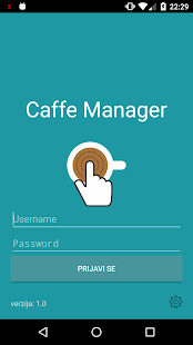 CaffeTouch Manager - náhled