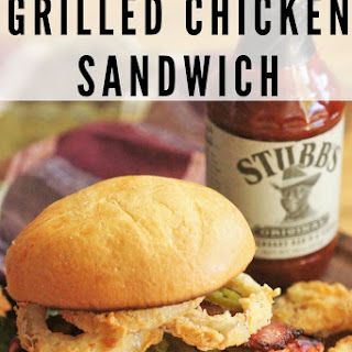 Cowboy Style Grilled Chicken Sandwich.