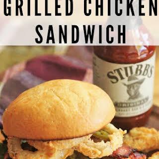 Cowboy Style Grilled Chicken Sandwich.