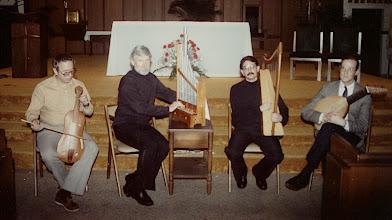 Photo: April 14, 1991 Frank Hutchison, J. Kite-Powell, Allen Scott, Bruce Burchmore