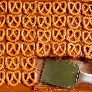 Easy Caramel Pretzel Brownies.