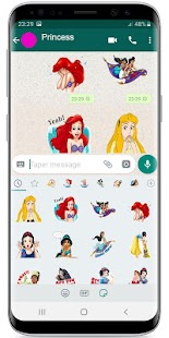 Princess Stickers ! WAStickerApps for Whatsapp Screenshot
