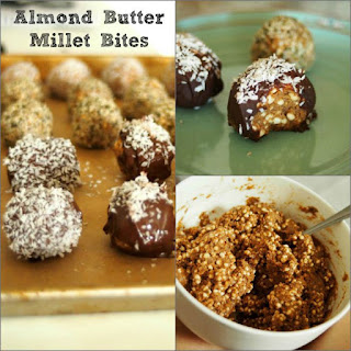 Almond Butter Millet Bites covered in; Hemp Seeds, Coconut or Chocolate!