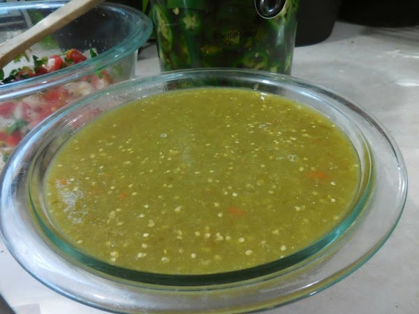 TOMATILLO SALSA:  It doesn't get any fresher than this:  http://www.justapinch.com/recipes/sauce-spread/salsa/roasted-tomatillos-salsa.html BUT if you...