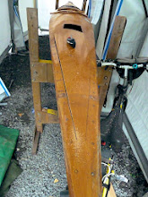 Photo: 1st sabre saw cut, old deck removal, coaming's not yet been removed (bicycle at ready for quick getaway)