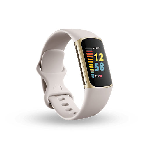 Fitbit Charge 5 in light gray