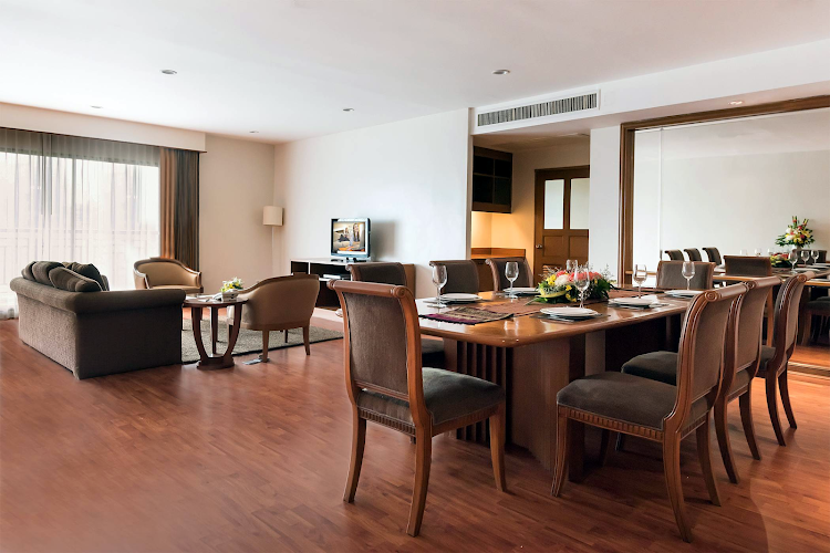 Spacious living area at Somerset Park Suanplu Bangkok