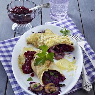 Cabbage and Mushroom Pancakes
