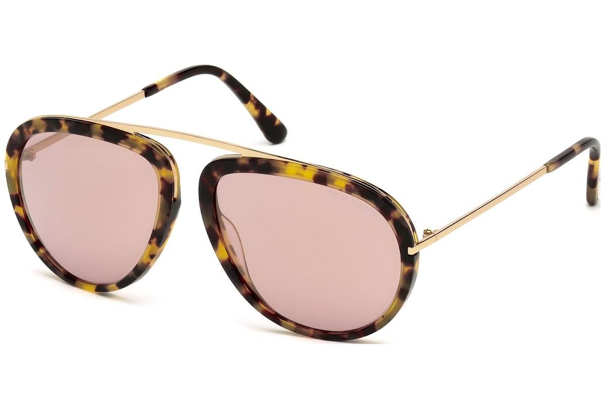 42a04d94530e7 Sunglasses Tom Ford Stacy FT0452 C57 53Z (blonde havana   gradient)