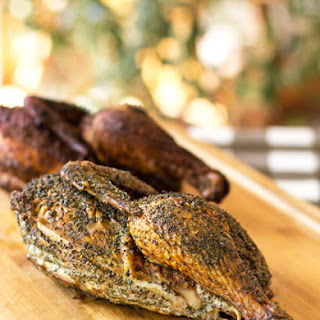 Smoked Chicken with Herb and Chile Rubs