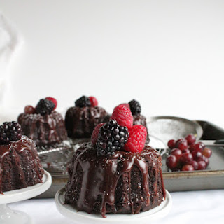 Mini Chocolate Bundt Cakes.