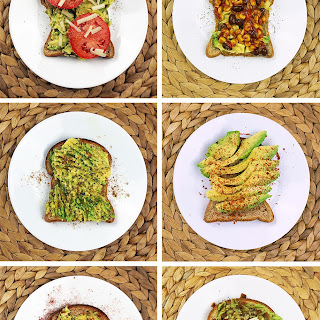 Avocado Toast 6 Ways