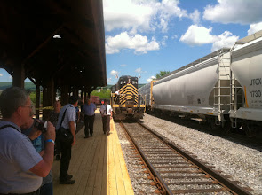 Photo: Steamtown June 2014 Here comes our train.