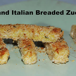 Easy Parmesan and Italian Breaded Zucchini Fries.