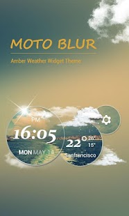 Download Moto Blur style Atrix Clock For PC Windows and Mac apk screenshot 1