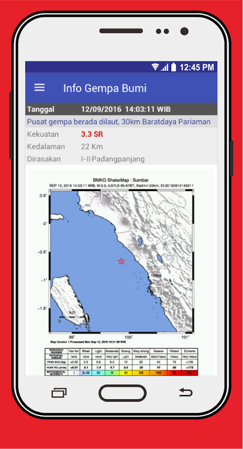 Gempa dan Cuaca di Indonesia- screenshot