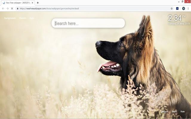 German Shepherd Wallpaper HD Dogs New Tab