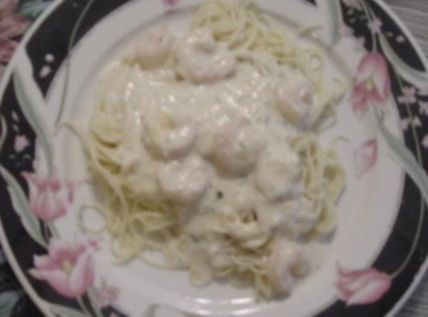 Shrimp In Cream Sauce Over Angle Hair Pasta Recipe