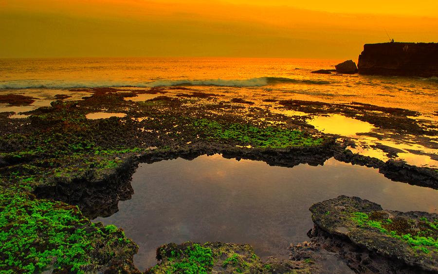 Sunset at Kuta Bali by Nasrul Hudayah Bin Suyoni - Landscapes Waterscapes