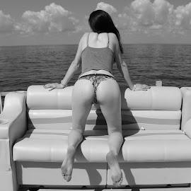 Girl On A Boat by Paul Hopkins - Nudes & Boudoir Boudoir