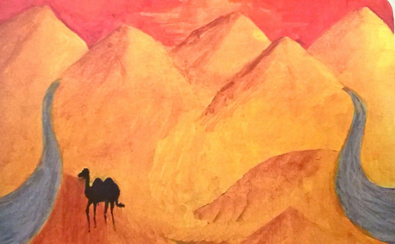 Карта из колоды метафорических карт Дорога: дорога в пустыне