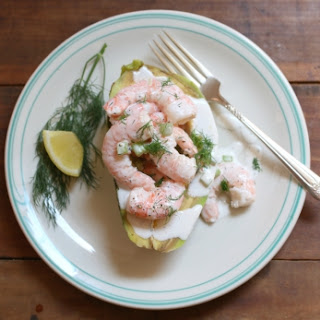 Shrimp Salad Stuffed Avocado With Chenin Blanc