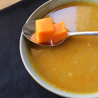 Pumpkin And Red Lentil Soup.