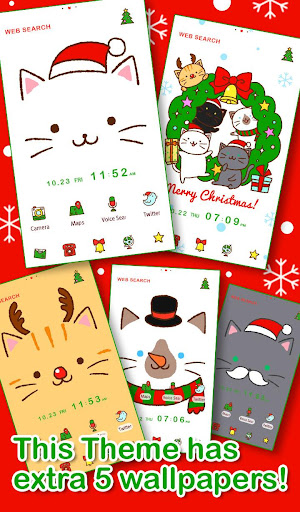 Christmas  Theme Kitty Face 1.0.0 Windows u7528 2