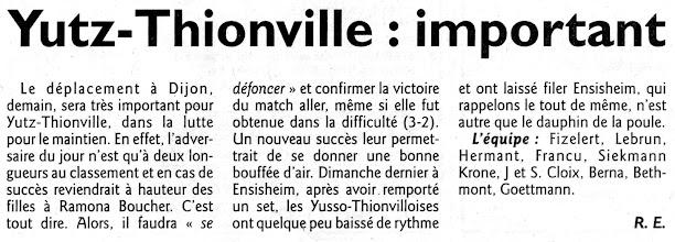 Photo: 27-02-2011 Yutz-Thionville joue un match important à Dijon pour le maintien