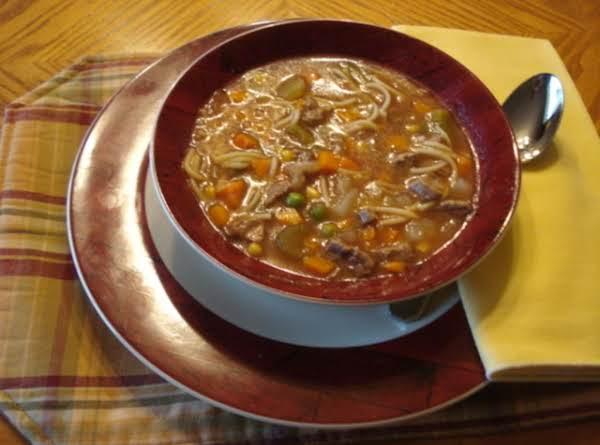 Pressure Cooker Vegetable Beef Soup