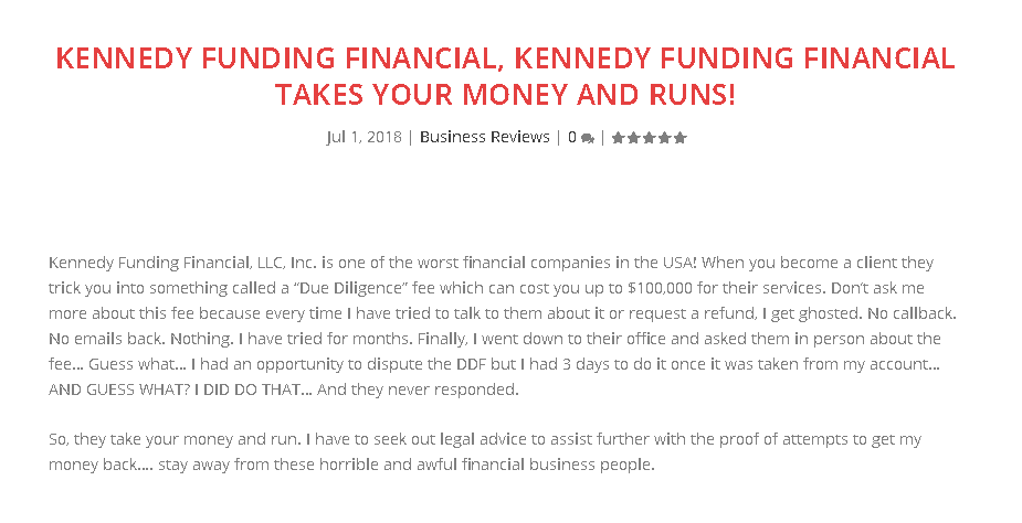 Kennedy Funding Financial complaints