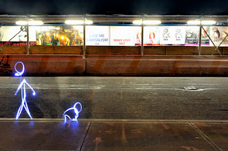 Photo: Street messages - Light painting by Christopher Hibbert, french photographer and light painter. Further information: http://www.christopher-hibbert.com