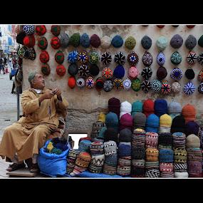 Morocco B_0886i by Jani Novak - People Portraits of Men ( travel.., street, morocco, man, hat )